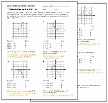 Exponential Functions Worksheet Answers Best Of Graphing Exponential Functions Worksheet Answers