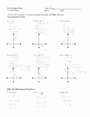 Exponential Functions Worksheet Answers Lovely Worksheet Ratinal Functions 2 Problems Answers
