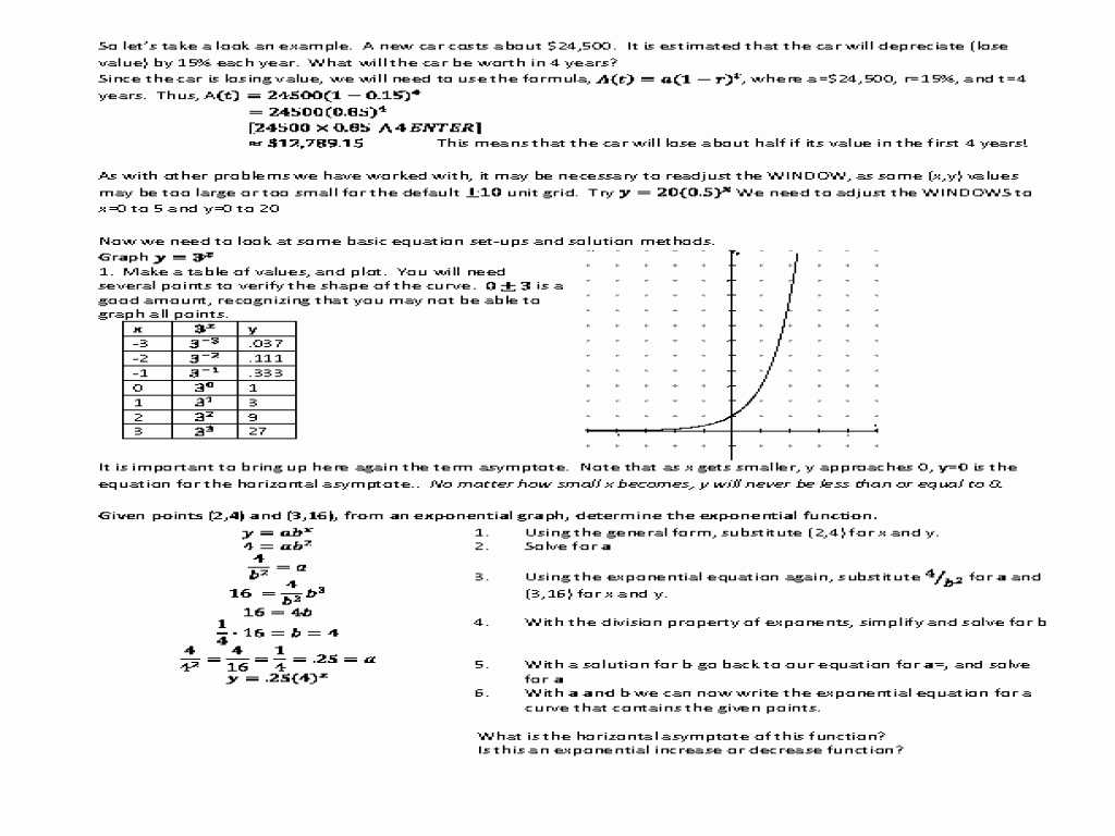 Exponential Functions Worksheet Answers Luxury Graphing Exponential and Log Functions Worksheet