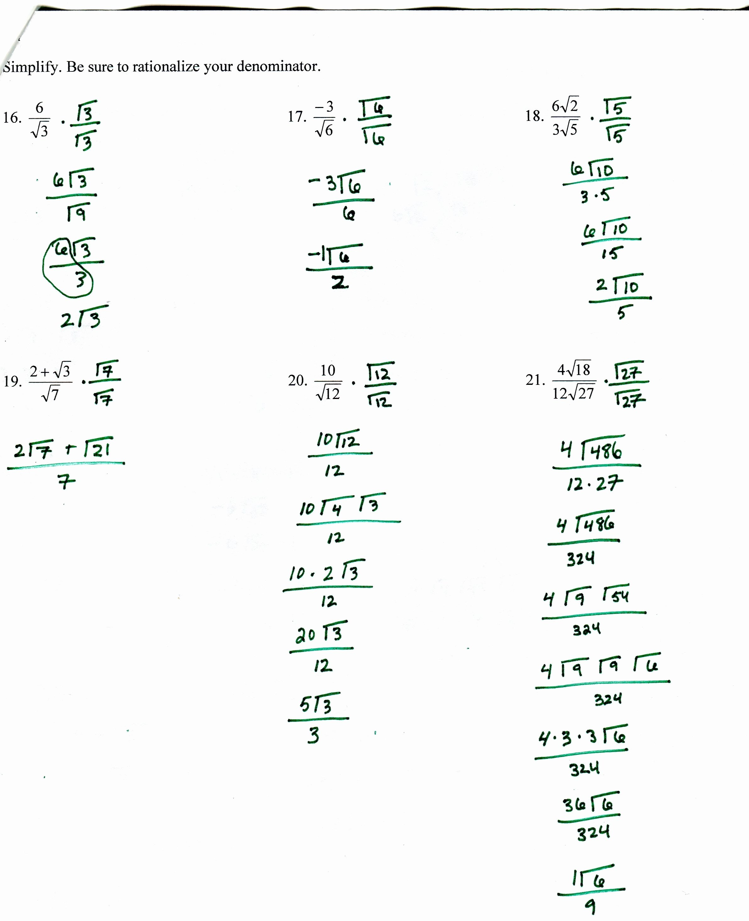 Exponential Functions Worksheet Answers New solving Exponential and Logarithmic Functions Worksheet