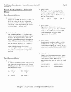 Exponential Growth and Decay Worksheet Beautiful Exponential Growth and Decay Worksheet for 9th 11th