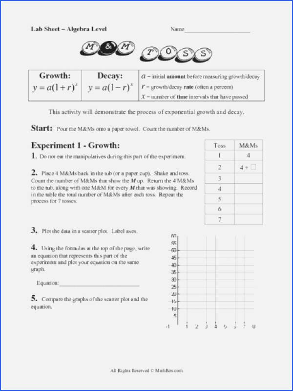 Exponential Growth and Decay Worksheet Fresh Exponential Growth and Decay Worksheet