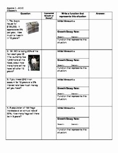 Exponential Growth and Decay Worksheet Inspirational 1000 Images About Algebra 2 On Pinterest