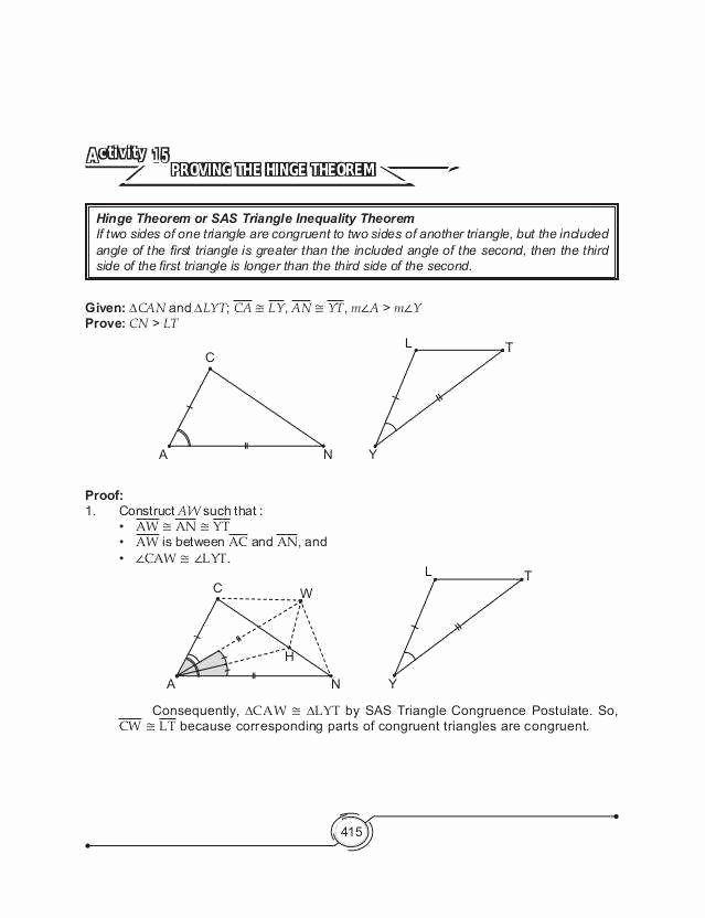 Exterior Angle theorem Worksheet Awesome Triangle Inequality Worksheet