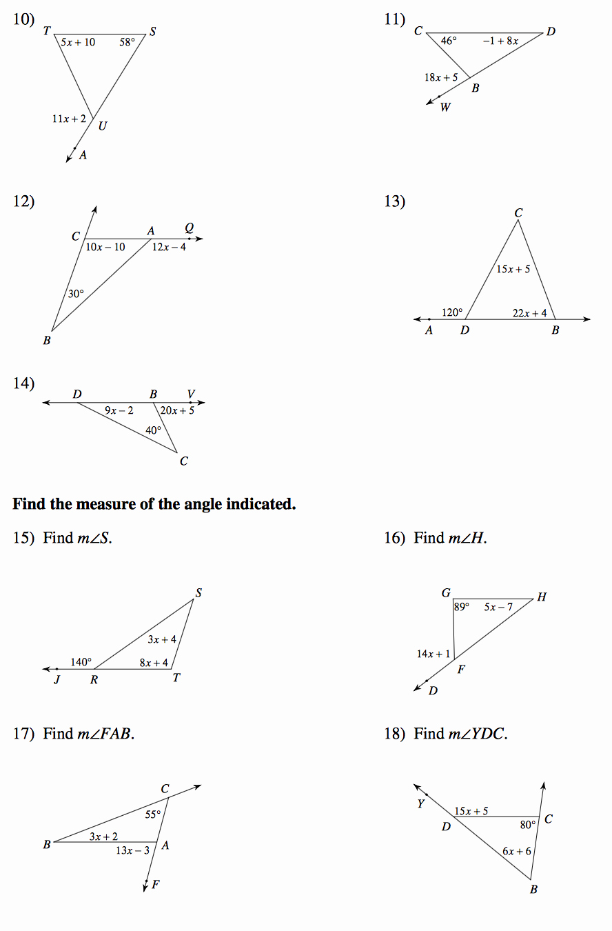 Exterior Angle theorem Worksheet Best Of Geometry Mrs Murk S Math Class