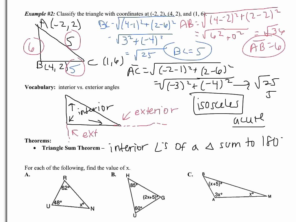 Exterior Angle theorem Worksheet Elegant Sum Angles In A Triangle Worksheet