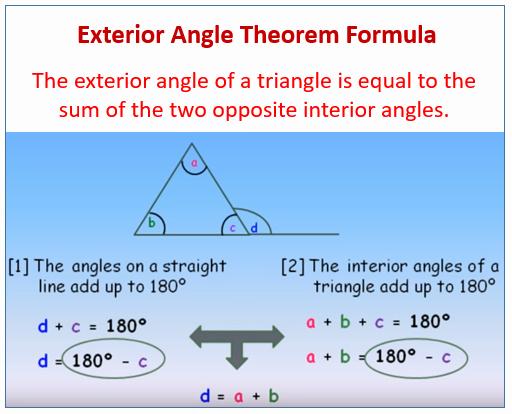 Exterior Angle theorem Worksheet Inspirational Exterior Angle theorem Examples solutions Worksheets