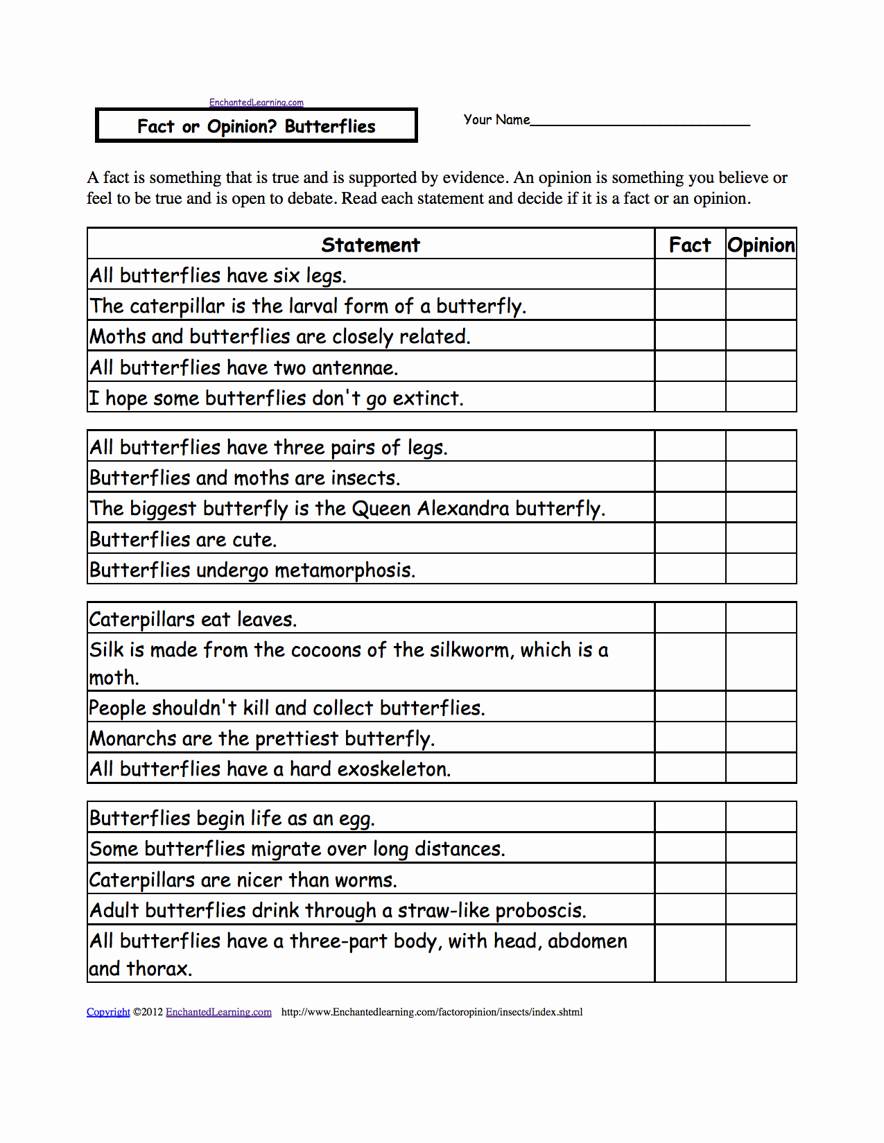 Fact or Opinion Worksheet Awesome Fact or Opinion Checkmark Worksheets to Print