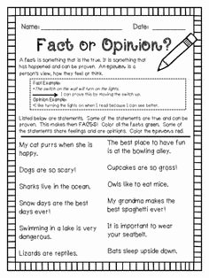 Fact or Opinion Worksheet Beautiful Opinion or Fact Worksheet