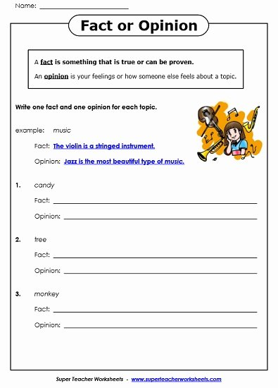 Fact or Opinion Worksheet Elegant Fact and Opinion Worksheets