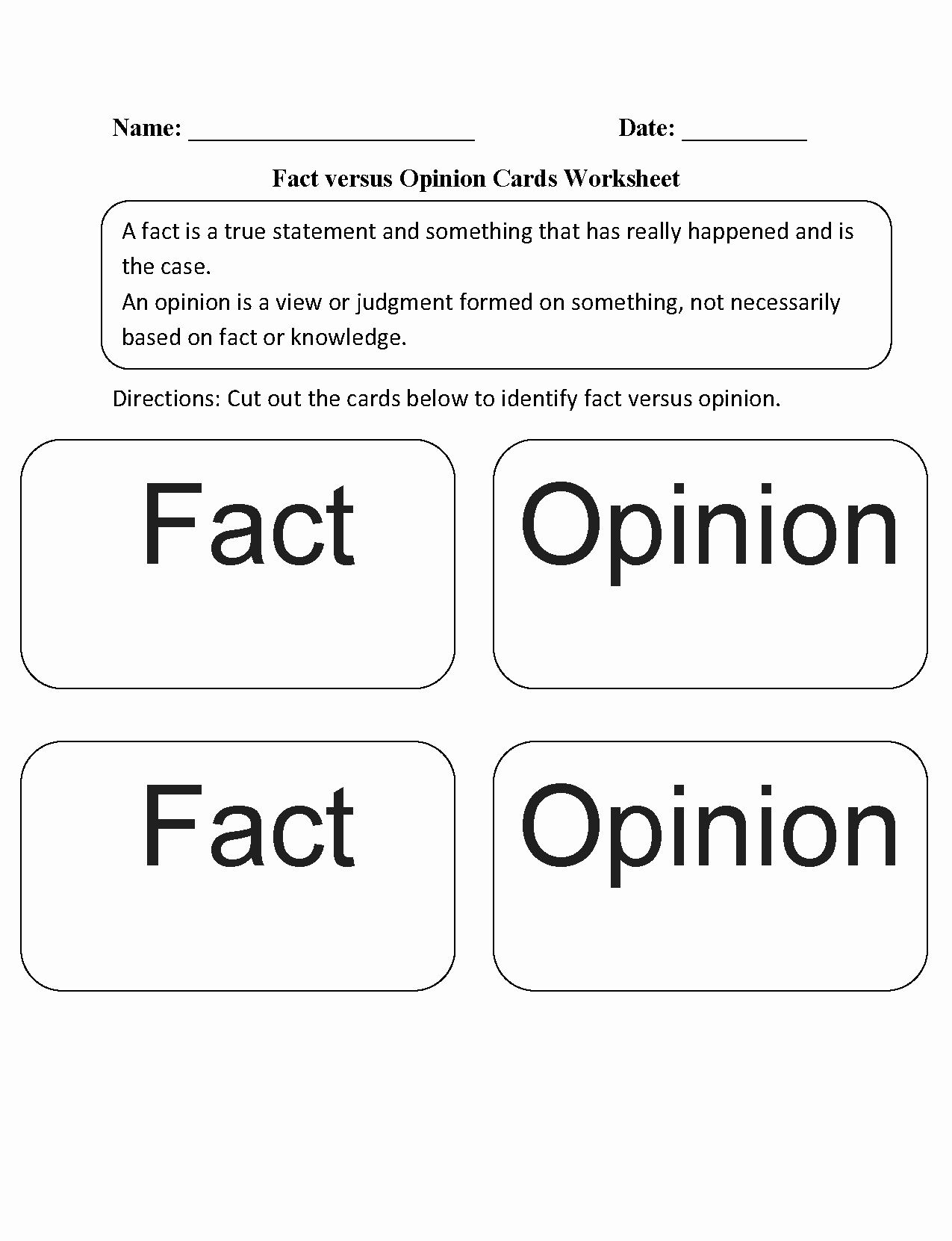 Fact or Opinion Worksheet Fresh Reading Worksheets