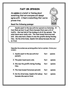 Fact or Opinion Worksheet Inspirational 1000 Images About English and Language Arts On Pinterest