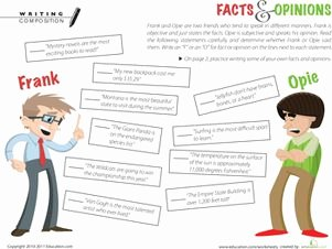 Fact or Opinion Worksheet Inspirational 17 Images About Fact Vs Opinion On Pinterest