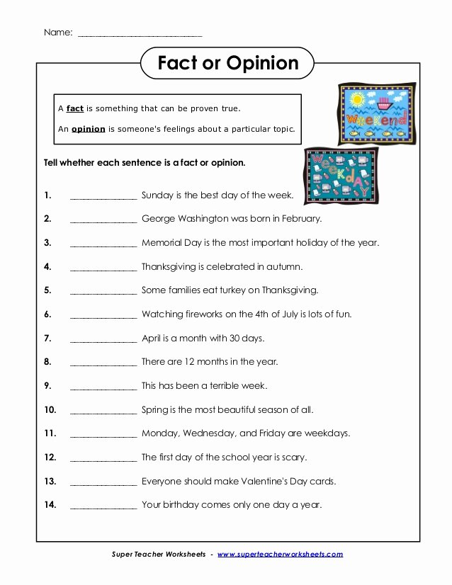 Fact or Opinion Worksheet Luxury English Fact and Opinion