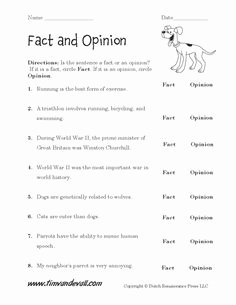 Fact or Opinion Worksheet Unique Fact Vs Opinion Worksheet Google Search