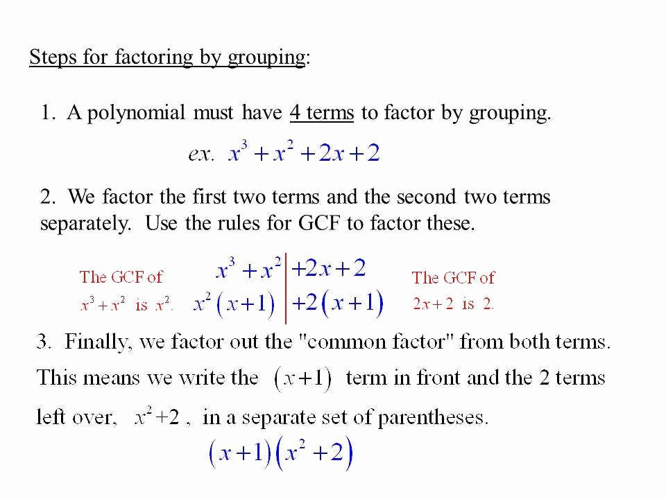 Factor by Grouping Worksheet Inspirational Factoring by Grouping Worksheet