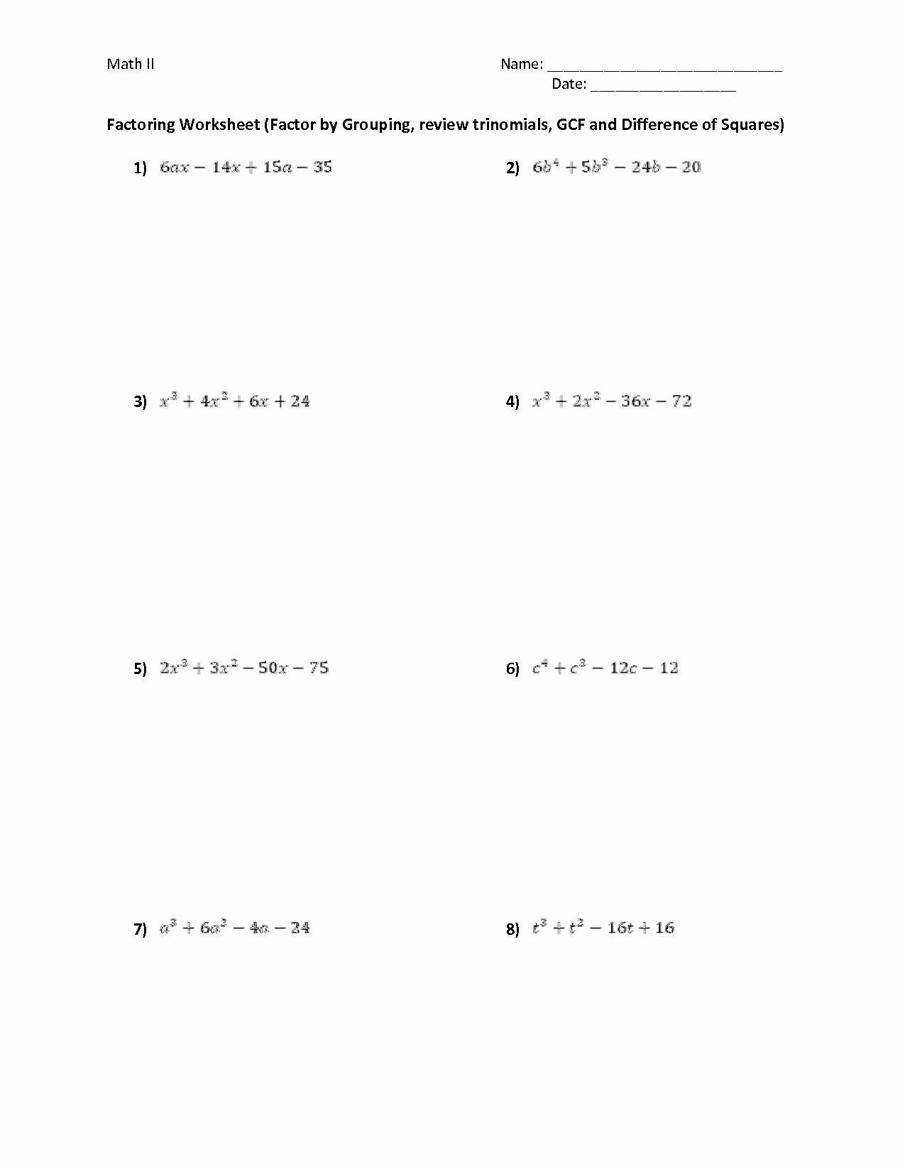 Factor by Grouping Worksheet Luxury 13 Best Of Foil Method Worksheet Foil Math