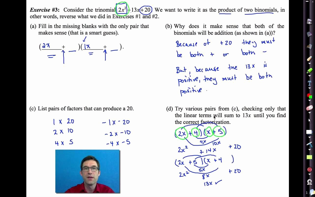 Factor by Grouping Worksheet New Factoring by Grouping Worksheet Algebra 2 Answers