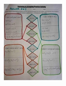 Factor by Grouping Worksheet Unique Factoring by Grouping Practice Activity by Christy Plumley