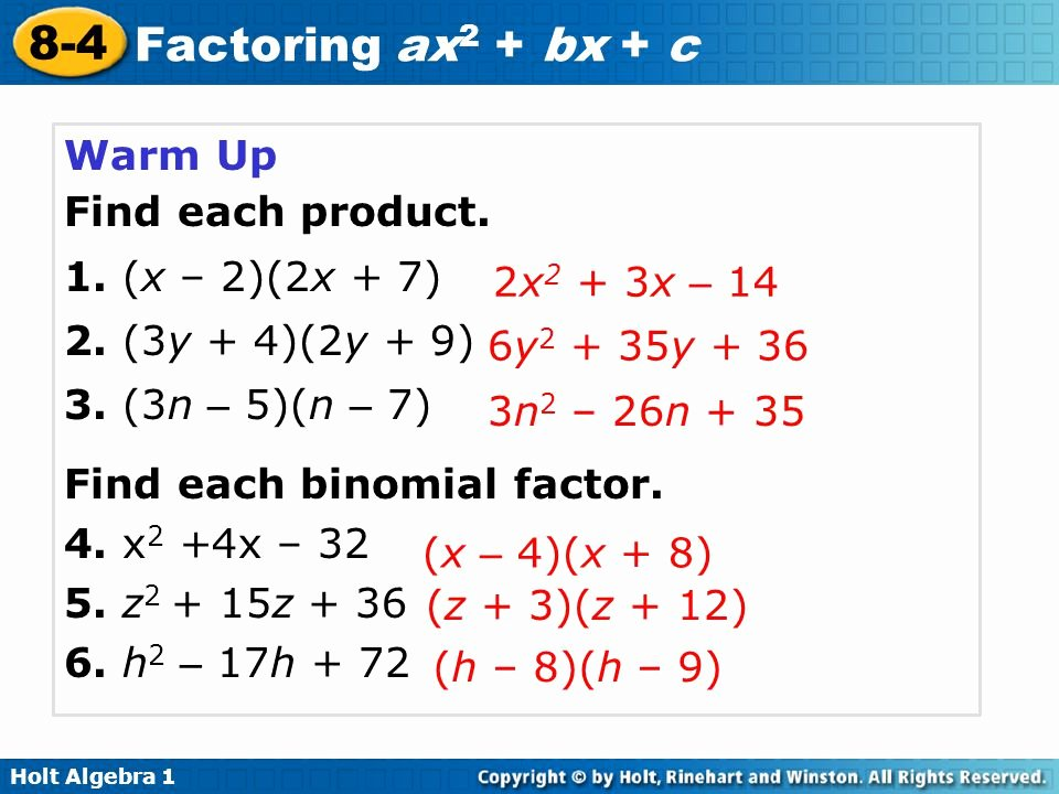 Factoring Ax2 Bx C Worksheet Fresh Factoring Trinomials the form Ax2 Bx C Worksheet