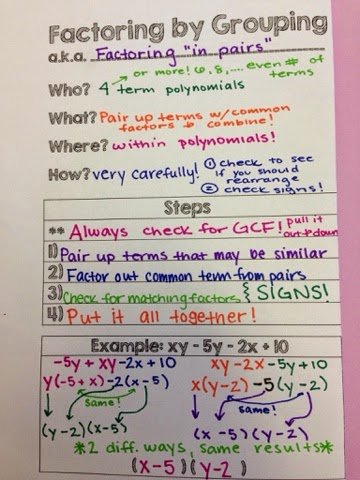 Factoring by Grouping Worksheet Answers Awesome the Secondary Classroom Can Be Fun too Additional