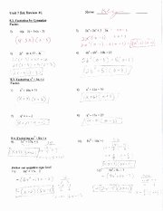 Factoring by Grouping Worksheet Best Of Factoring by Grouping Worksheet with Key Unit 7 Ba