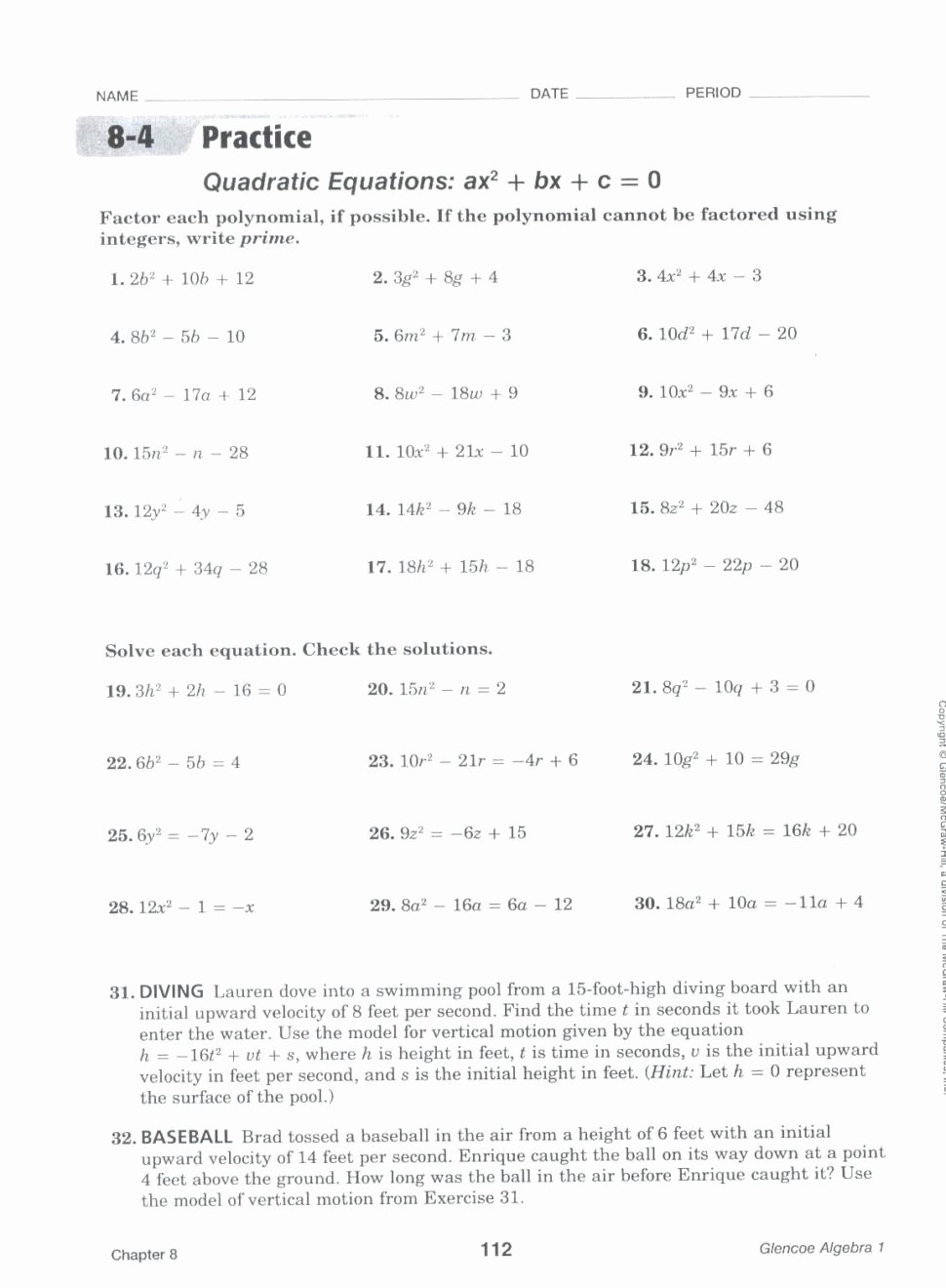 Factoring Difference Of Squares Worksheet Inspirational Ecosystem Pdf Tags Multiplying and Dividing Decimals