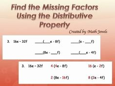 Factoring Distributive Property Worksheet Elegant 1000 Images About Distributive Property & Factoring On