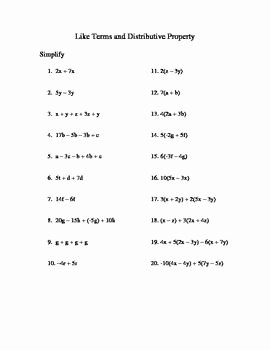 Factoring Distributive Property Worksheet Fresh 10 Best Math Distributive Property Images On Pinterest