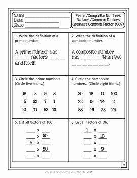 Factoring Greatest Common Factor Worksheet Awesome Greatest Mon Factor Worksheet Vocabulary and