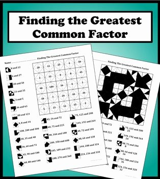 Factoring Greatest Common Factor Worksheet Beautiful Finding the Greatest Mon Factor Color Worksheet by Aric