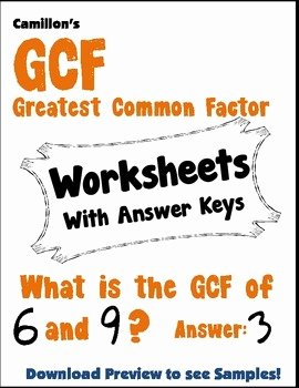 Factoring Greatest Common Factor Worksheet Luxury Gcf Worksheets Greatest Mon Factor Worksheet
