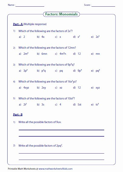 Factoring Linear Expressions Worksheet Unique Factoring Expressions Worksheet