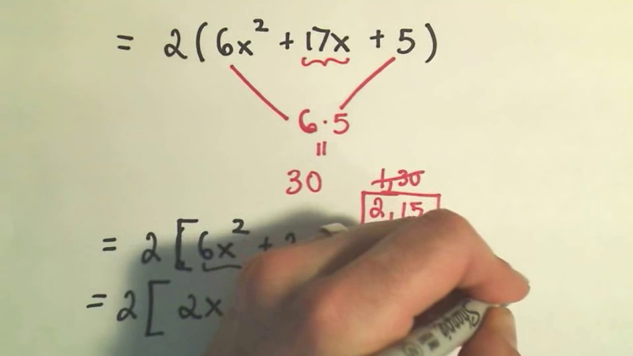 Factoring Polynomials by Grouping Worksheet Elegant Factoring Trinomials Factor by Grouping Ex 1