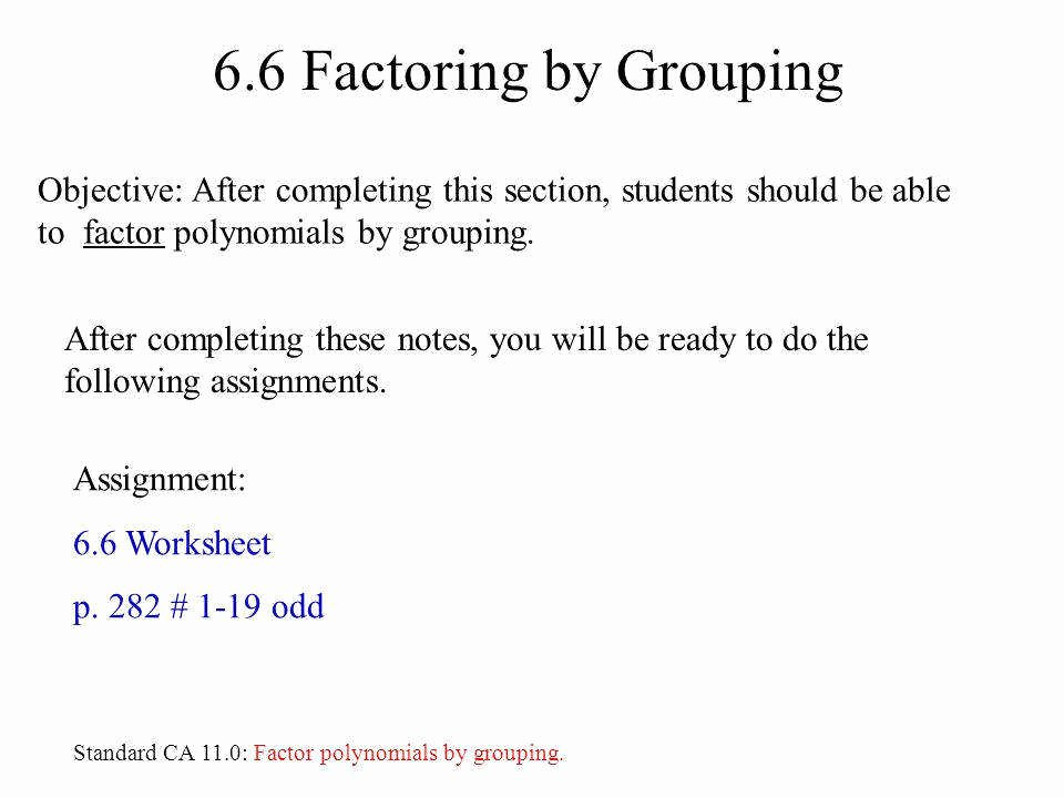 Factoring Polynomials by Grouping Worksheet Inspirational Factoring Expressions Worksheet