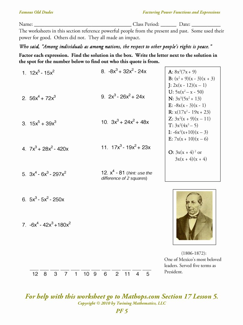 Factoring Polynomials Gcf Worksheet Best Of Factoring Binomials Worksheets