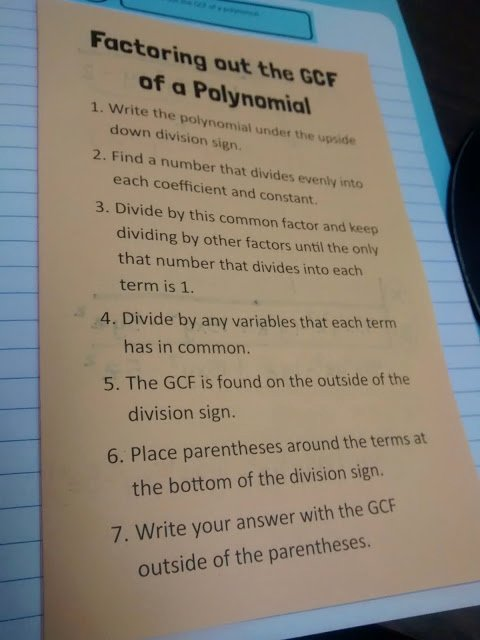 Factoring Polynomials Gcf Worksheet Best Of Math = Love Factoring Out the Gcf Of A Polynomial Foldable