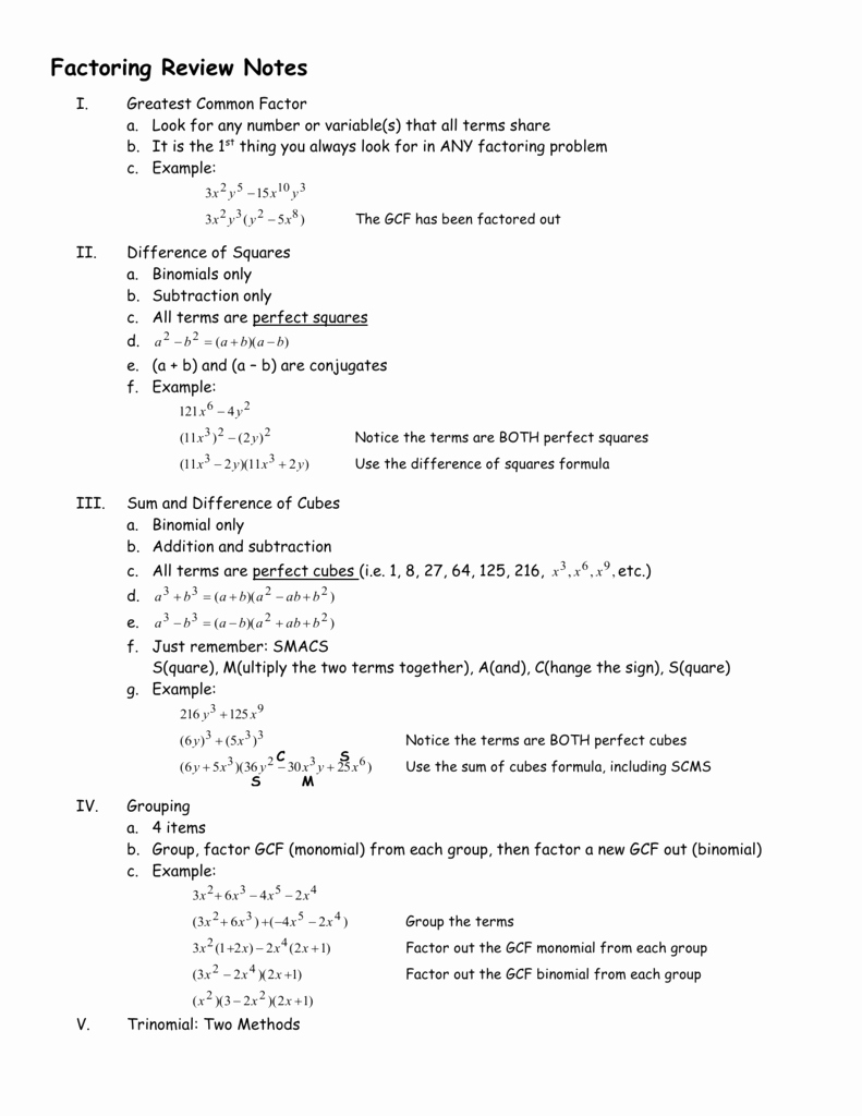 Factoring Practice Worksheet Answers Elegant Pre Calculus Honors Factoring & Fractions Practice Worksheet