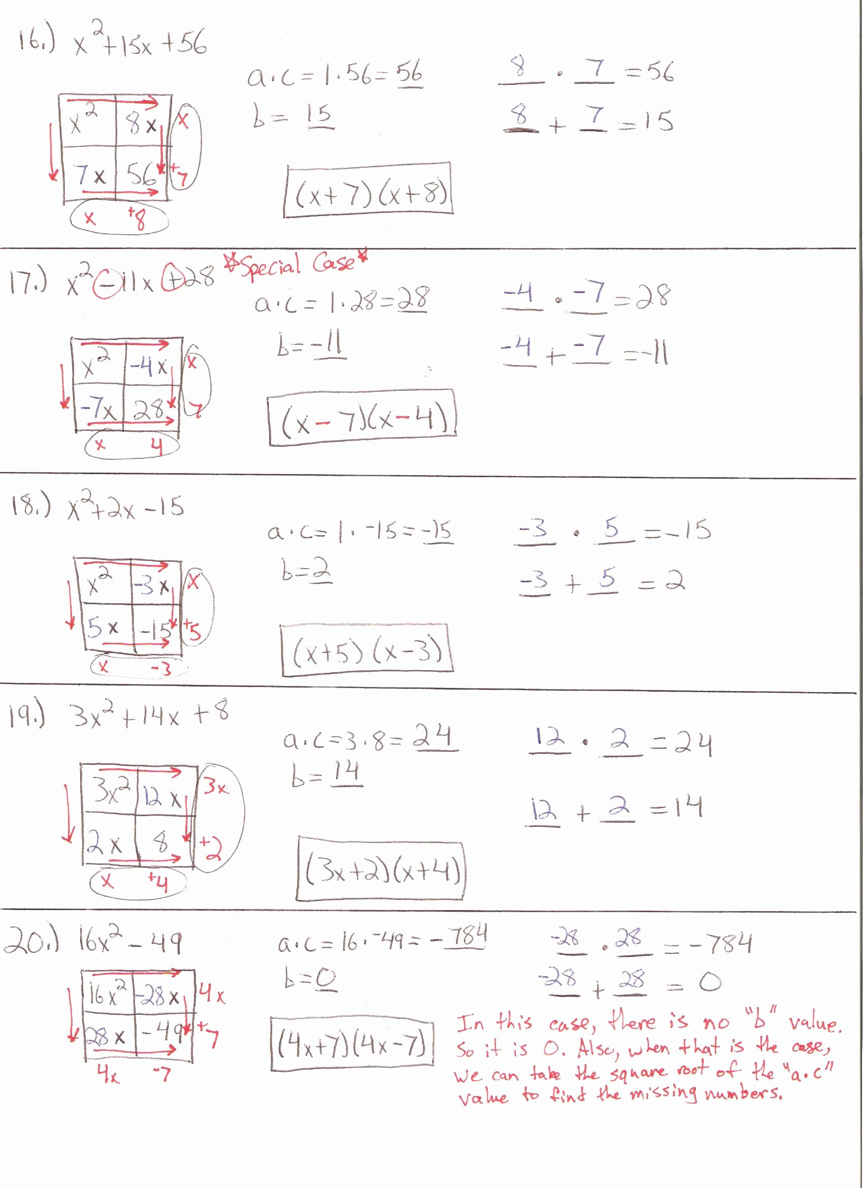 Factoring Quadratic Equations Worksheet Best Of Factoring the Difference Squares Worksheet