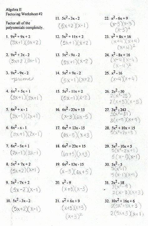Factoring Quadratic Expressions Worksheet Answers Awesome Factoring Quadratic Expressions Worksheet