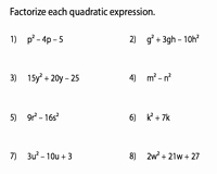 Factoring Quadratic Expressions Worksheet Answers Fresh Factoring Polynomials Worksheets
