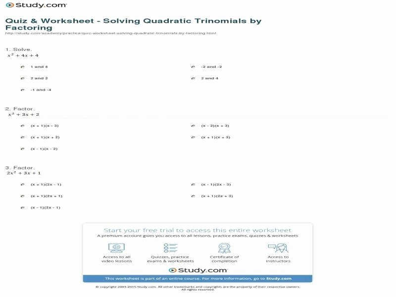 Factoring Quadratics Worksheet Answers Inspirational solving Quadratic Equations by Factoring Worksheet Answers