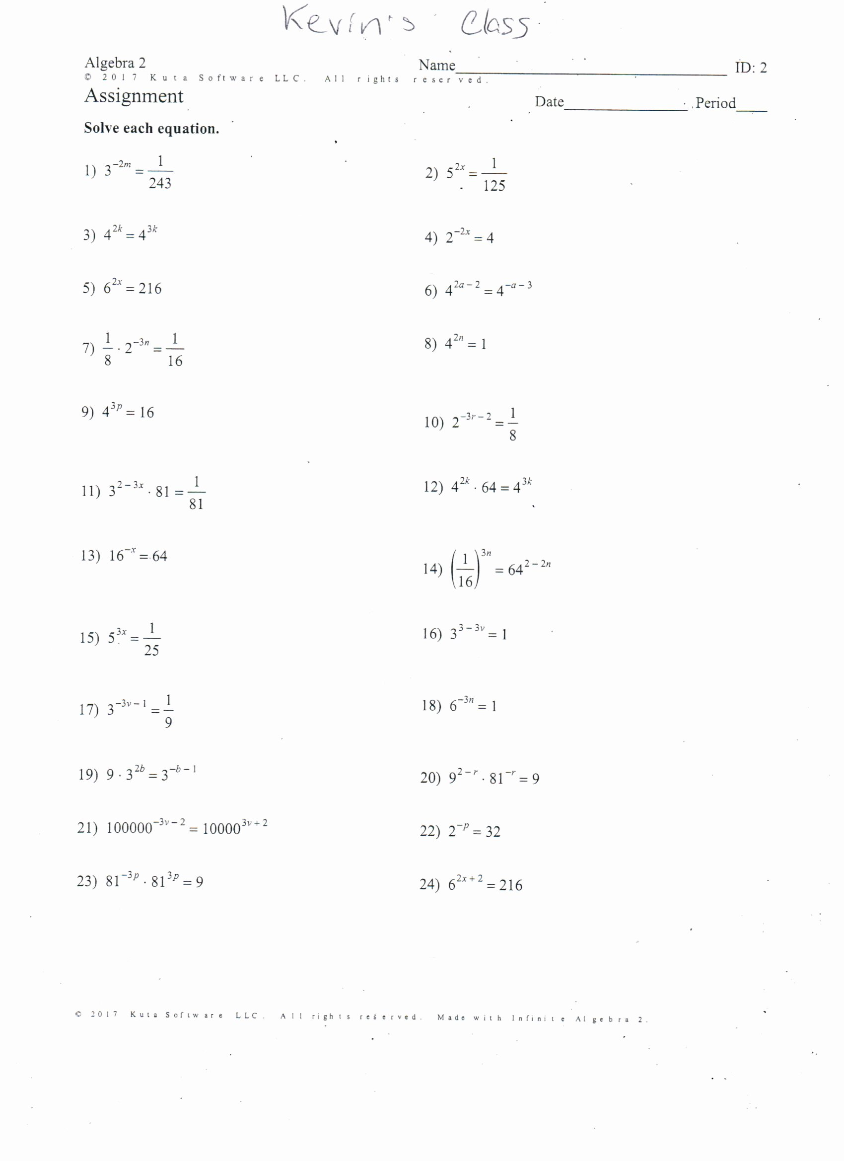 Factoring Quadratics Worksheet Answers Lovely solving Quadratic Equations by Factoring Worksheet Answers