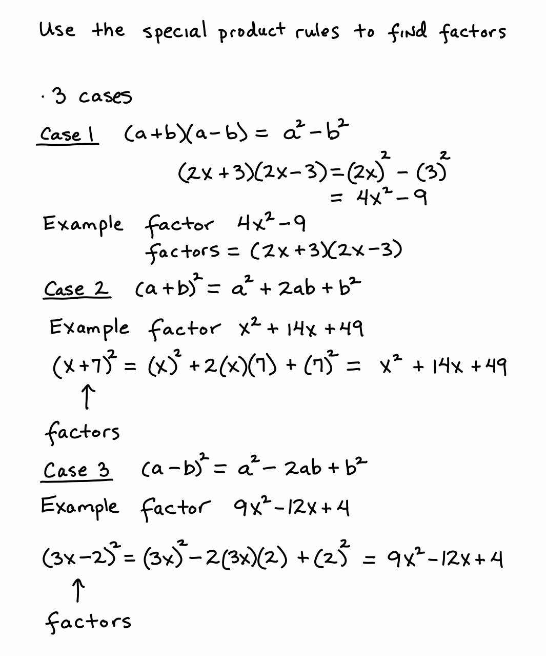 Factoring Special Cases Worksheet Beautiful Worksheet Multiplying Special Case Polynomials Grass
