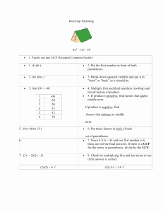 Factoring Special Cases Worksheet Inspirational Pre Calculus Honors Factoring & Fractions Practice Worksheet
