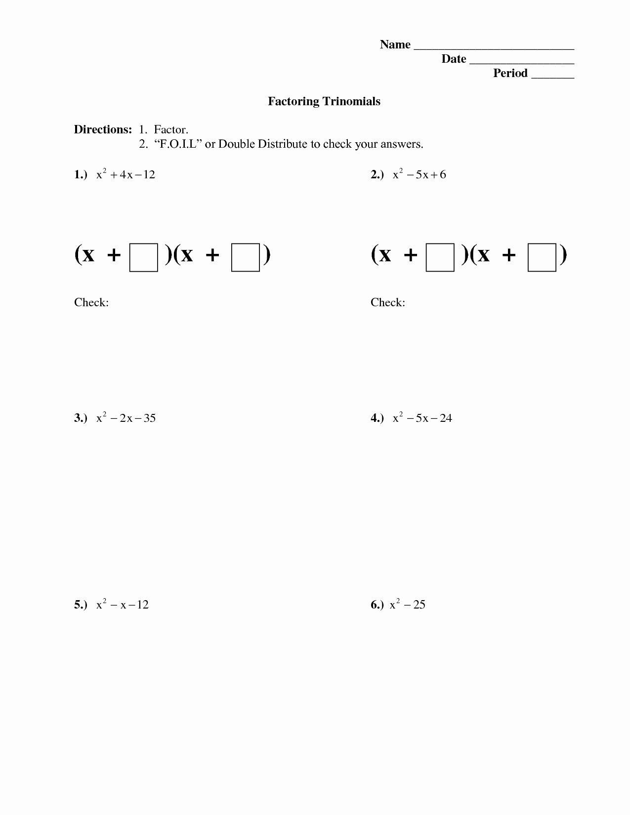 Factoring Trinomials A 1 Worksheet Fresh 15 Best Of Dividing Polynomials Worksheet with