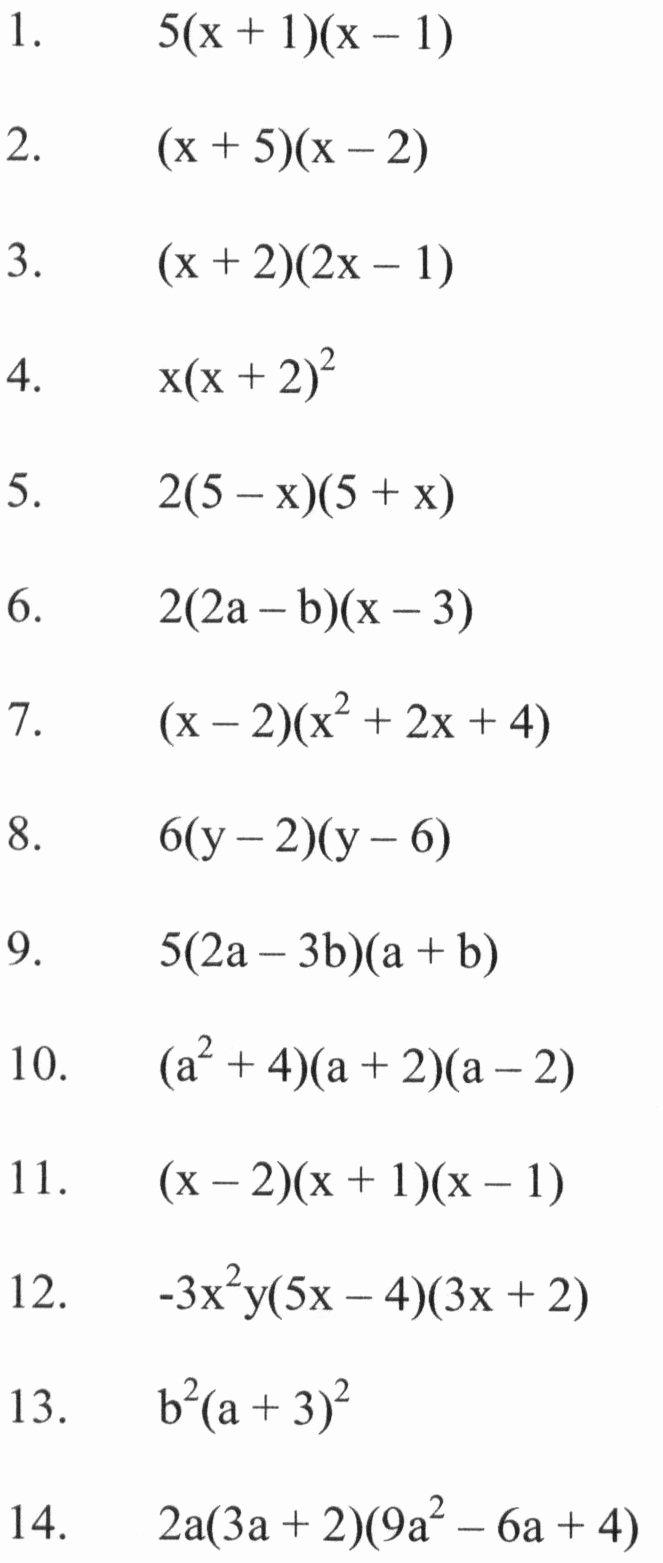 Factoring Trinomials Practice Worksheet Elegant Algebra 1 assignment Factor Each Pletely Worksheet