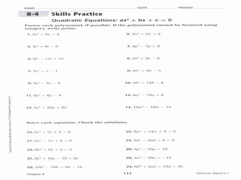 Factoring Trinomials Practice Worksheet Unique Factor Trinomials Worksheet