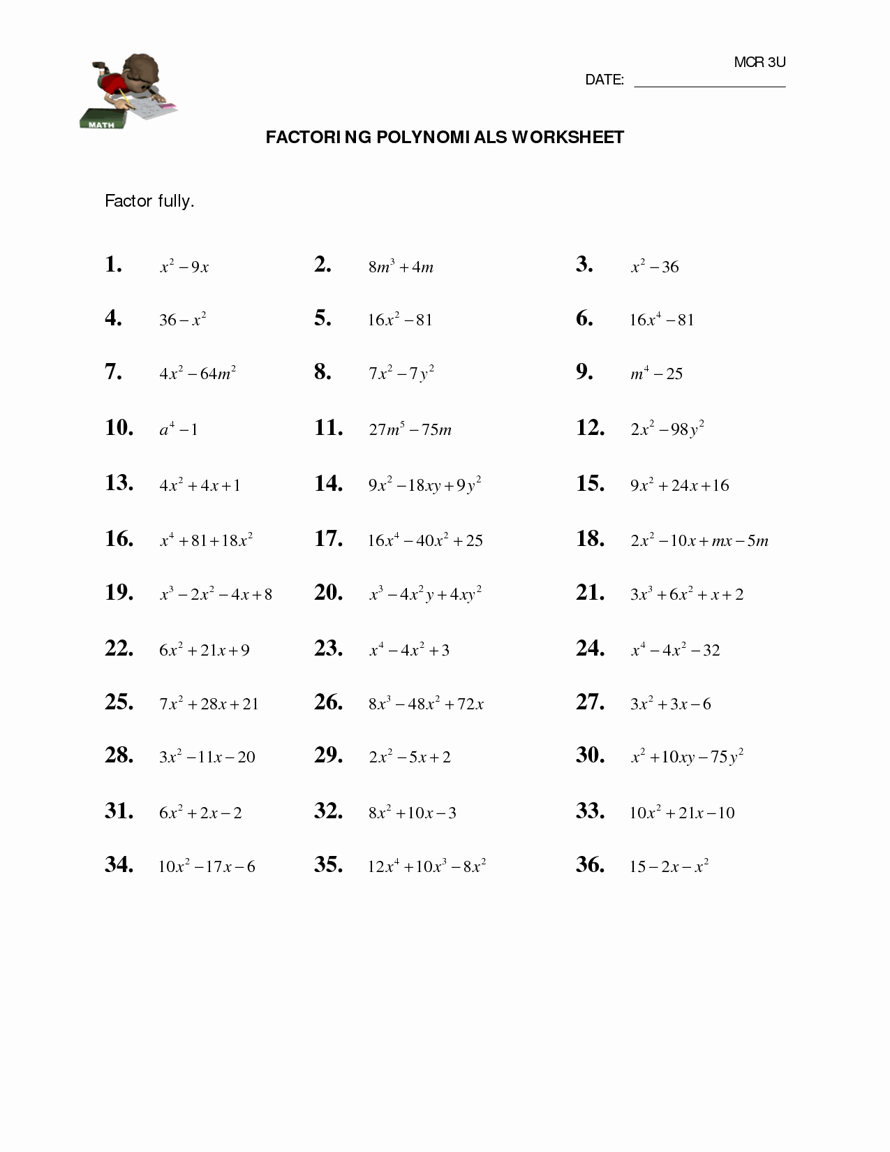Factoring Trinomials Worksheet Algebra 2 Unique 11 Best Of Factoring Worksheets Algebra Ii