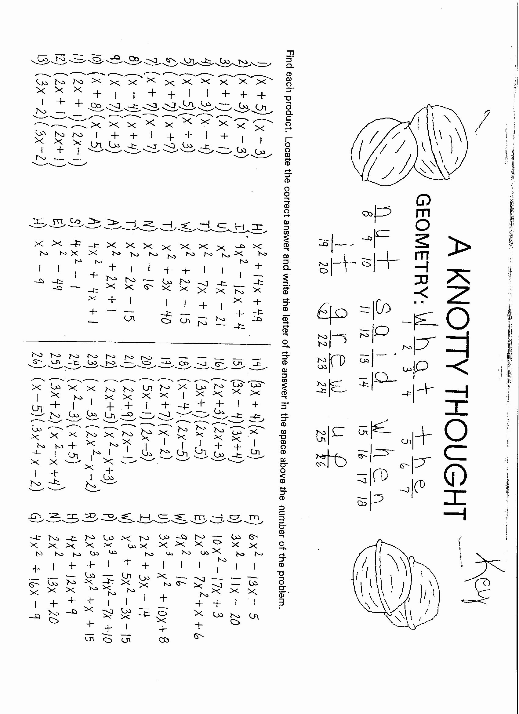 Factoring Trinomials Worksheet Answer Key Best Of Factoring by Grouping Factoring by Grouping Math is Fun